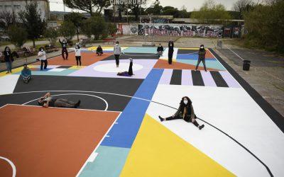Cantieri San Paolo, Un progetto del Municipio VIII di Roma – a cura di Dominio Pubblico realizzato con sostegno della Regione Lazio nell'ambito della manifestazione pubblica Lazio Street Art